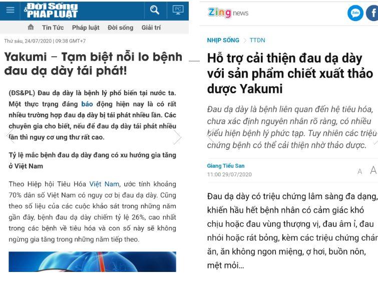 Rất nhiều trang báo nổi tiếng đều đưa tin về Yakumi