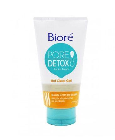 Sữa rửa mặt Bioré Pore Detox Hot Clear Gel