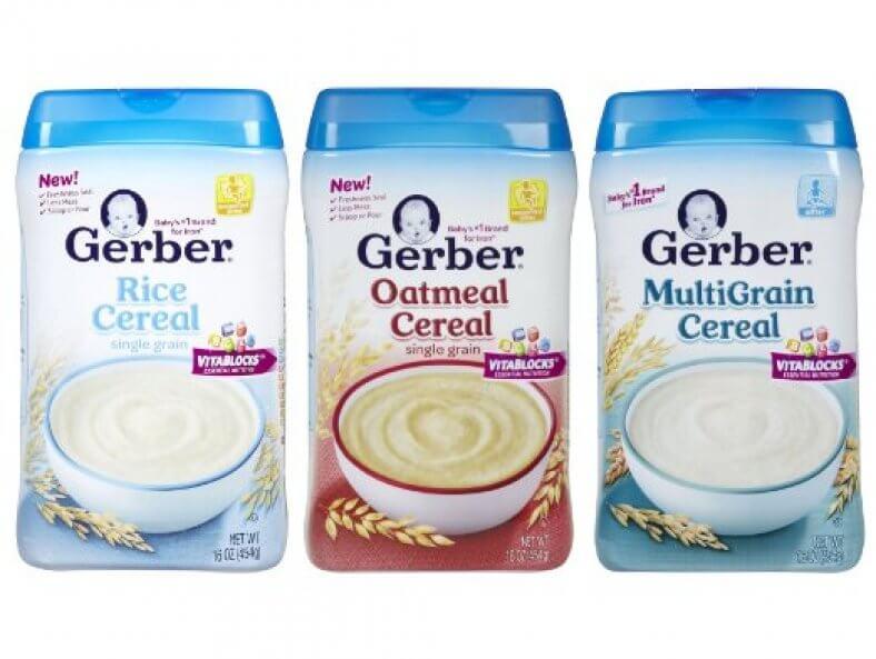 Bột ăn dặm cho bé Gerber