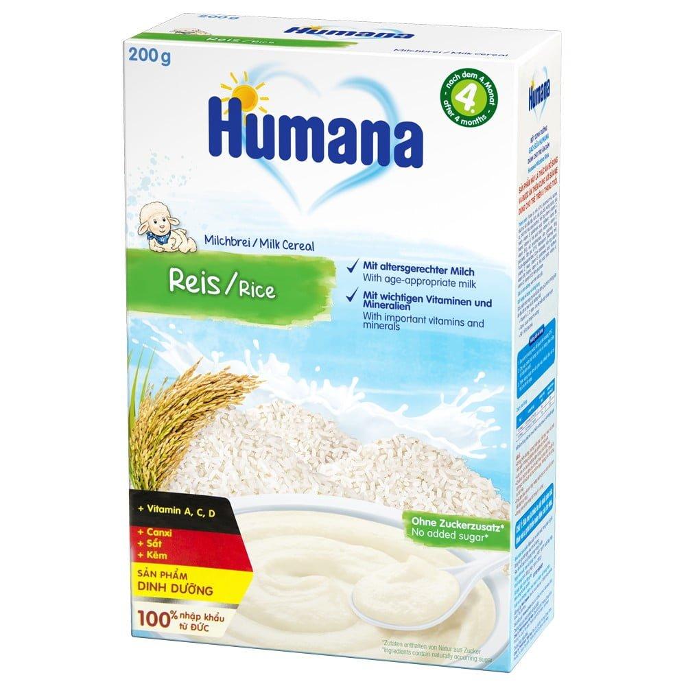 Bột ăn dặm Humana cho bé