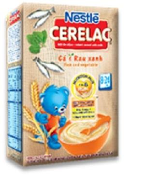 Nestle Cerelac vị cá và rau xanh