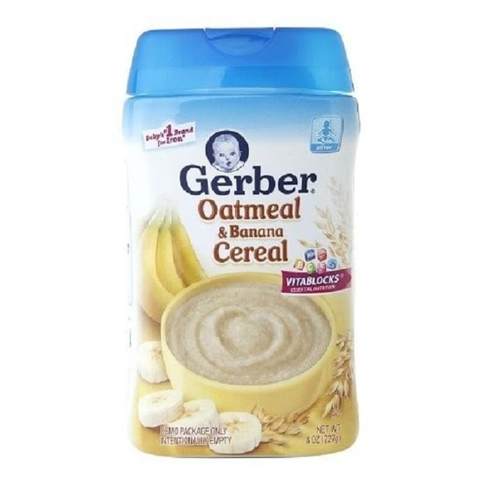 bột ăn dặm Gerber vị yến mạch, chuối