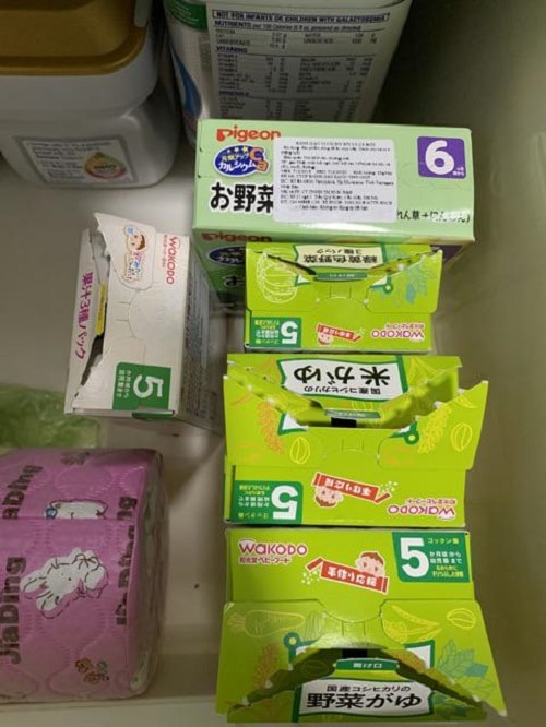 Bột ăn dặm wakodo cho bé 5 tháng