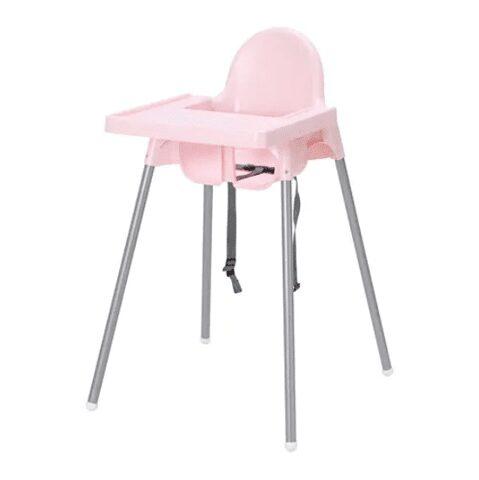 Ghế ăn dặm ikea màu hồng cho bé gái