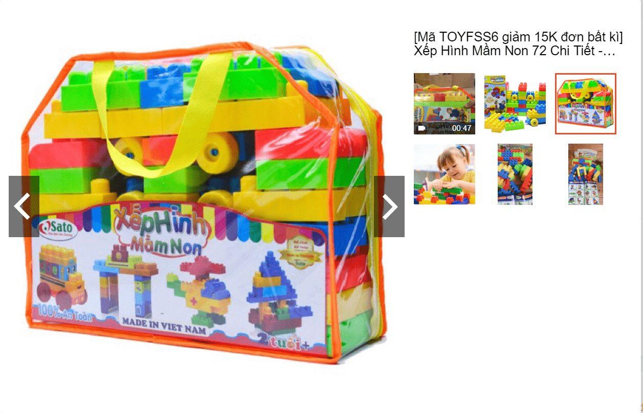 Bộ đồ chơi xếp hình cho bé 4 tuổi