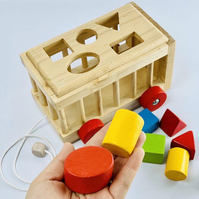 Đồ chơi gỗ thông minh thả hình cho bé