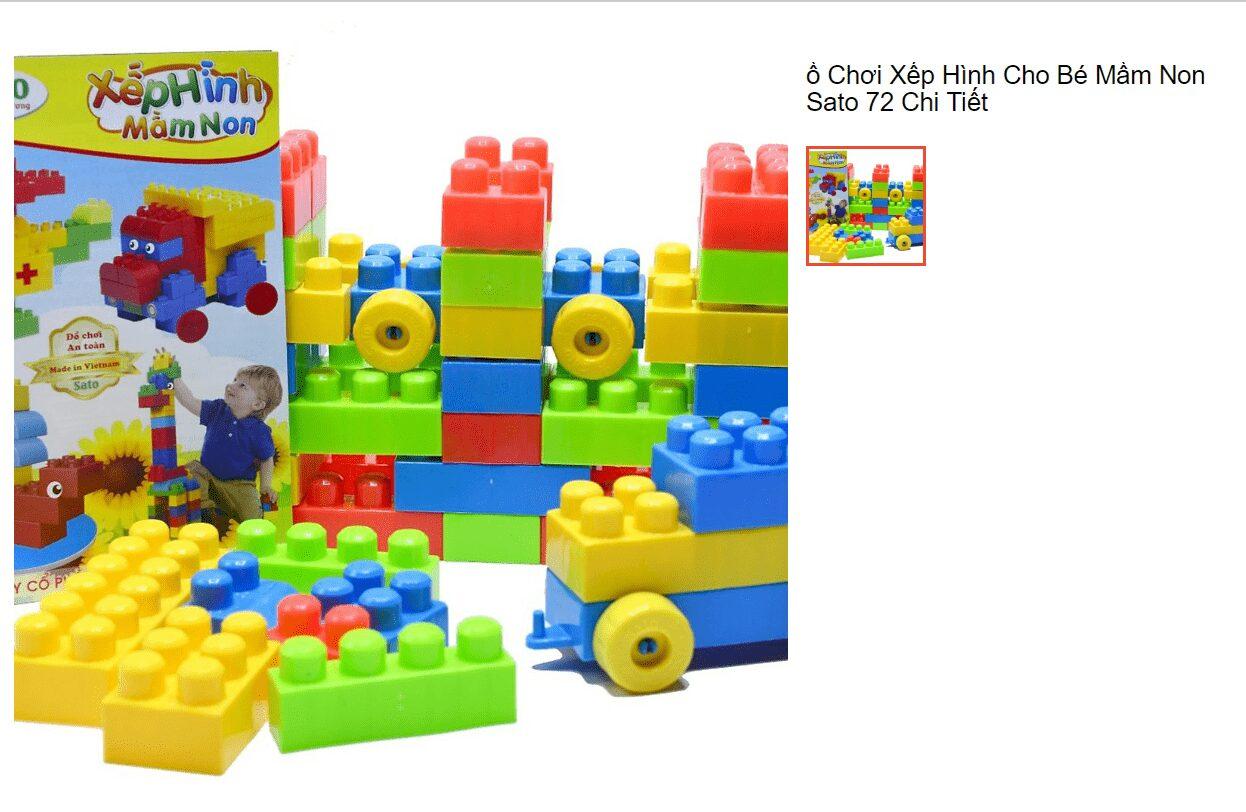 Đồ chơi xếp hình cho bé 3 tuổi