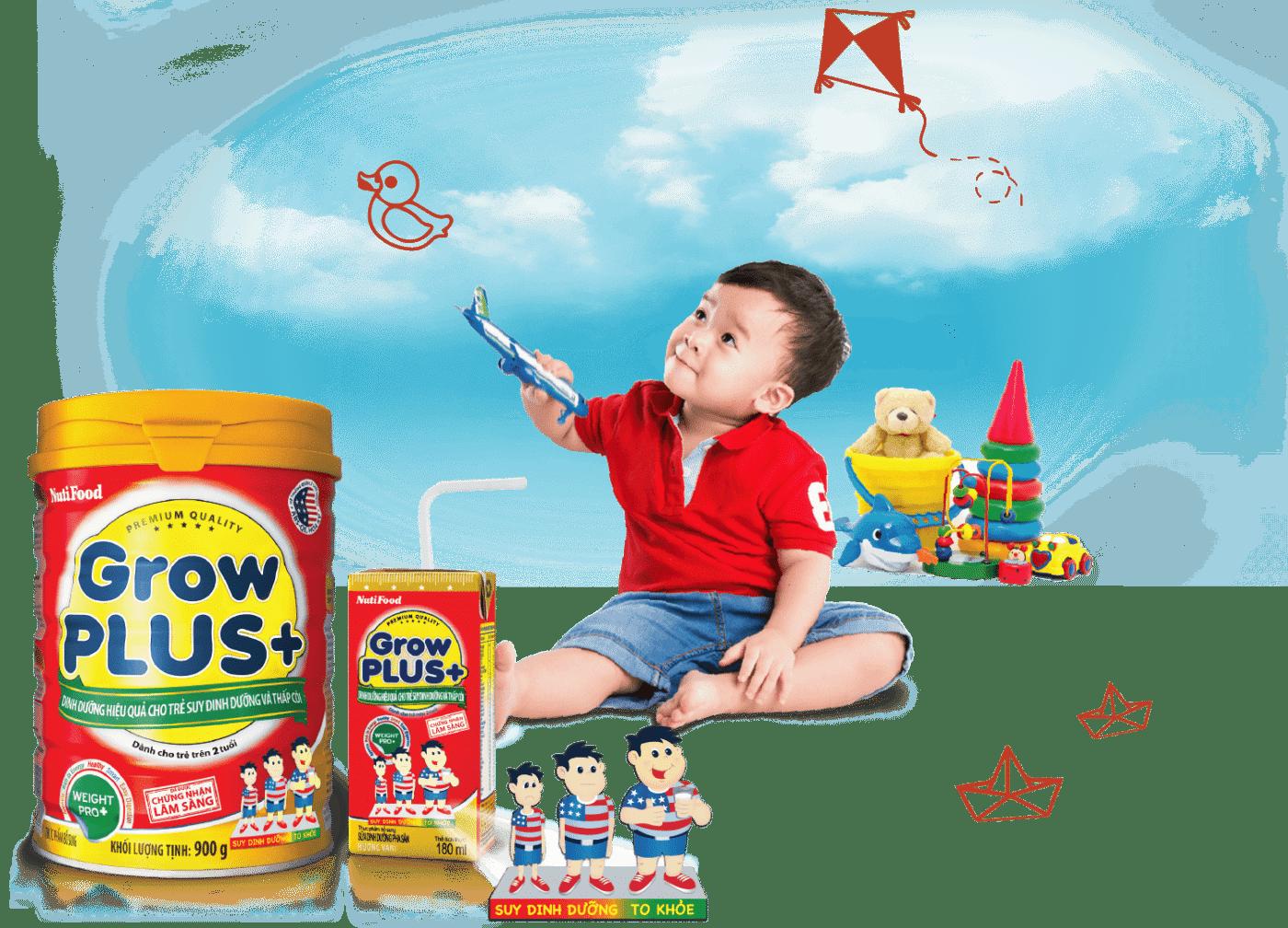 Sữa tăng cân Grow Plus của Nutifood
