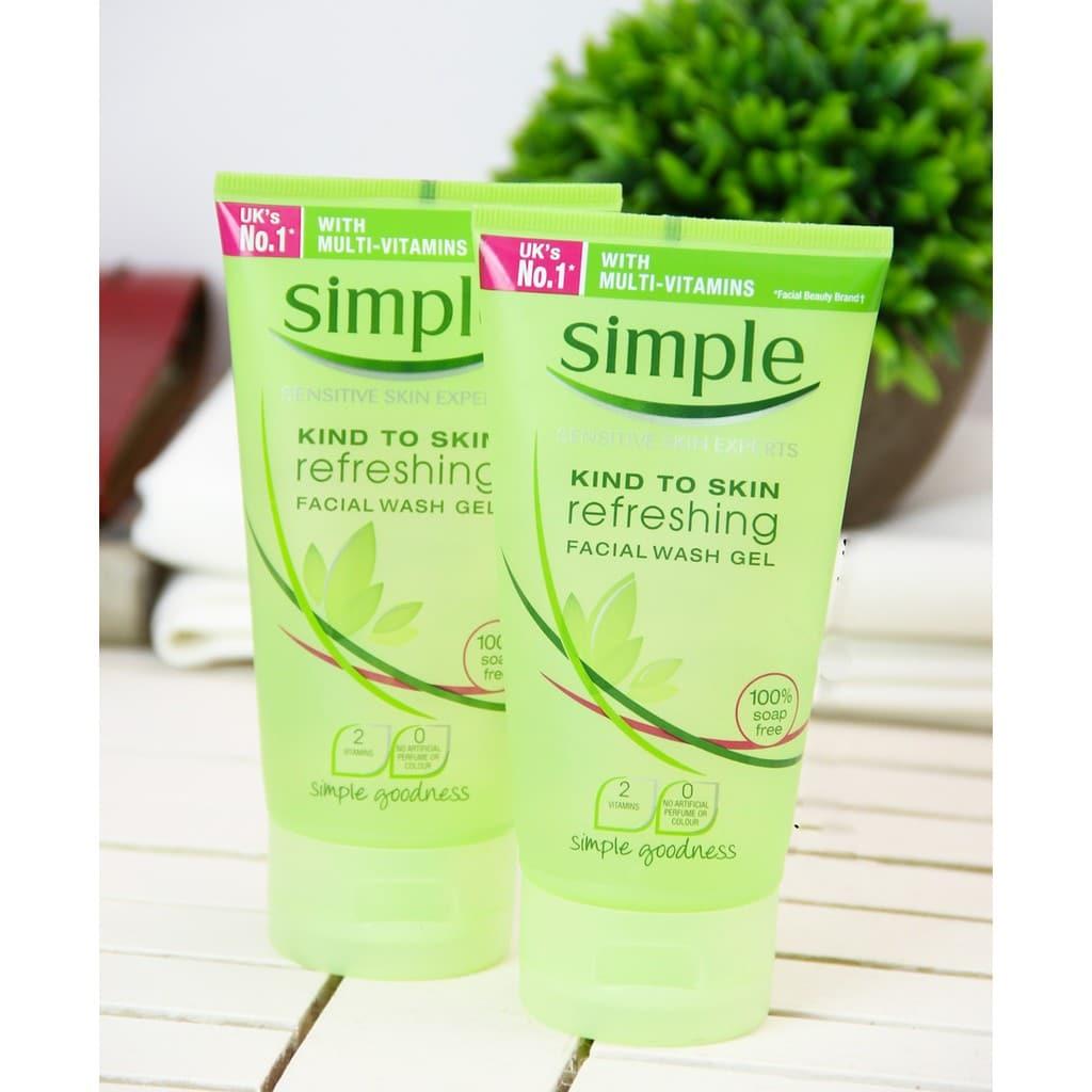 Simple Skin To Skin Refreshing Facial Wash Gel