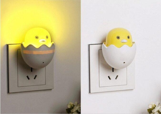 Đèn ngủ tự động hình quả trứng
