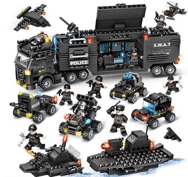 Đồ chơi xếp hình lắp ráp LEGO Đội Cảnh sát đặc nhiệm SWAT POLICE 900 chi tiết