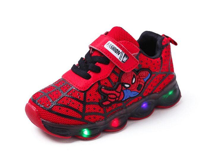 Giày spider man có led