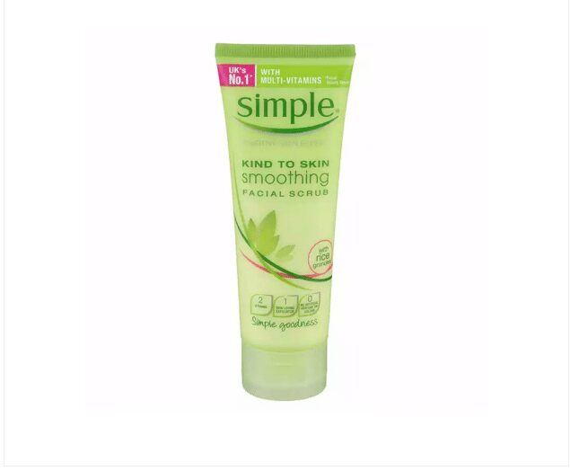 Sữa rửa mặt cho da hỗn hợp mụn Simple Kind To Skin Soothing Facial Scrub