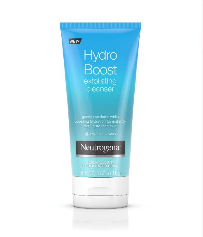 Sữa rửa mặt cho da hỗn hợp thiên khô Neutrogena Hydro Boost Exfoliating Cleanser