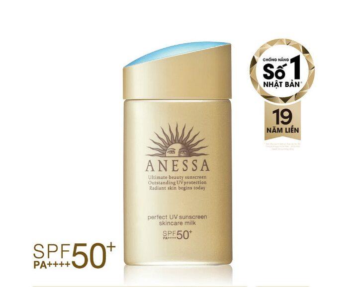 Kem chống nắng dành cho da nhạy cảm Anessa Perfect UV Sunscreen Skincare Milk