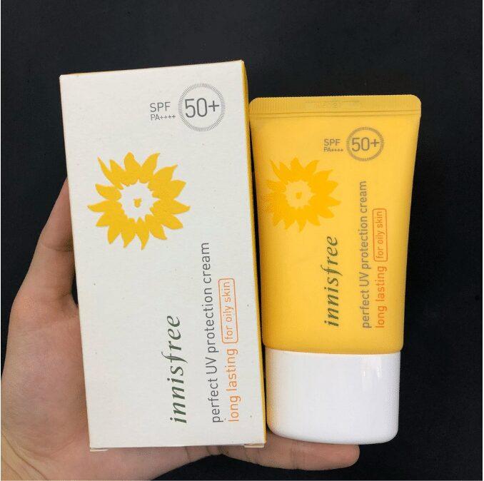 Kem chống nắng Innisfree Perfect UV Protection Cream Long Lasting SPF50+ PA+++