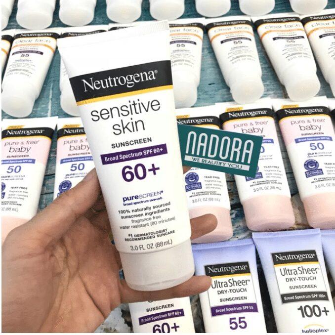 KEM CHỐNG NẮNG cho da nhạy cảm Neutrogena Sensitive Skin Sunscreen SPF 60+