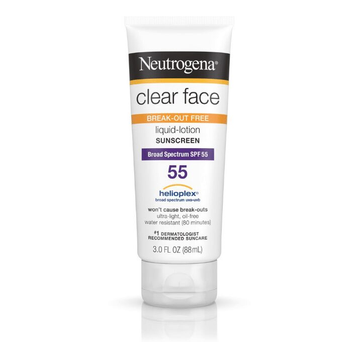 Kem Chống Nắng Neutrogena Clear Face Break-Out Free Liquid Lotion Sunscreen Broad Spectrum SPF 55