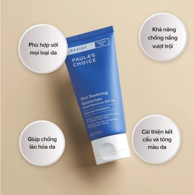 Kem Chống Nắng Paula's Choice Resist Skin Restoring Moisturizer SPF 50
