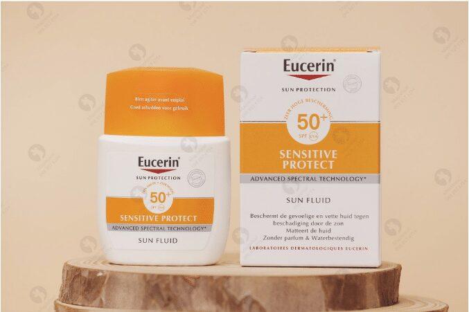 Kem chống nắng Eucerin Sensitive Protect Sun Fluid SPF 50 cho da nhạy cảm
