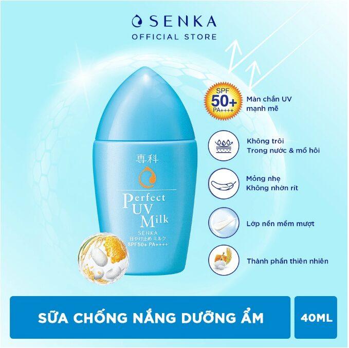 Kem chống nắng dạng sữa Senka Perfect UV Milk