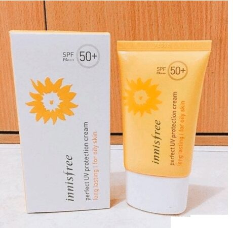 Innisfree Perfect UV Protection Cream Long Lasting SPF50+ PA+++ For Dry Skin cho da khô