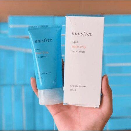 Kem Chống Nắng Innisfree cho da khô có khả năng Dưỡng Ẩm Innisfree Aqua Water Drop Sunscreen SPF 50+ PA++++