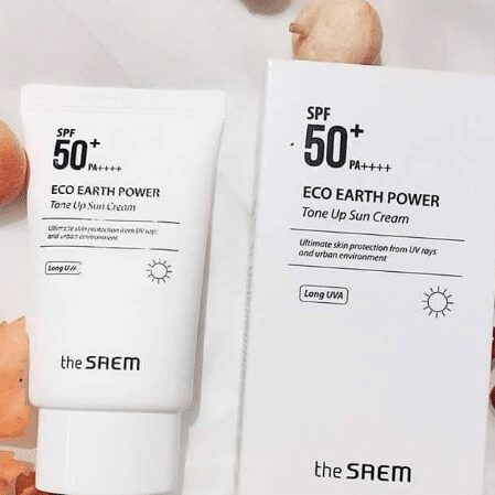 Kem chốn nắng The Saem Eco Earth Power Tone Up Sun Cream