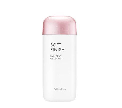 Kem chống nắng Missha hồng Missha All Around Safe Block Soft Finish Sun Milk