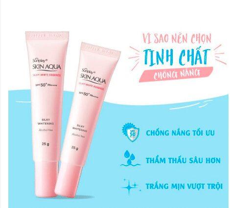 Kem chống nắng Sunplay Skin Aqua Silky White Essence