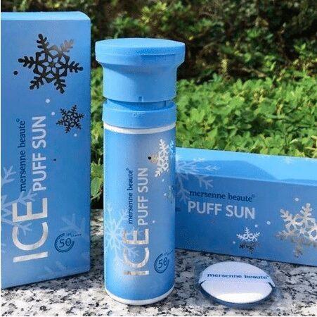 Kem chống nắng ice sun xanh- Nature Republic Ice Puff Sun Mersenne Beaute SPF50 PA+++