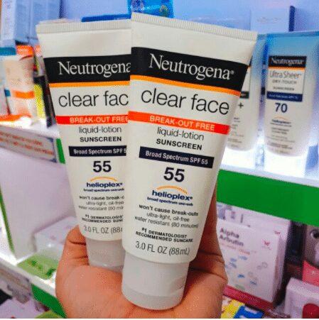 Kem Chống Nắng Neutrogena Clear Face Liquid Lotion Sunscreen SPF 55