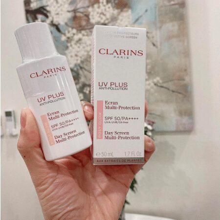 Kem chống nắng Clarins UV Plus Anti-Pollution Rosy Glow