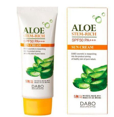 Kem chống nắng Dabo Aloe Stem Rich SPF50 PA+++