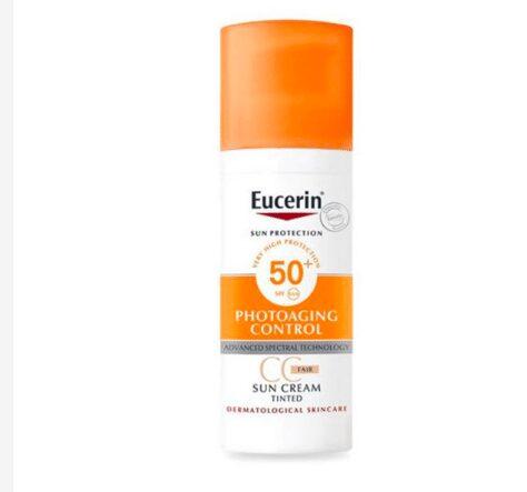 Kem chống nắng Eucerin Sun Creme Tinted CC Fair SPF 50