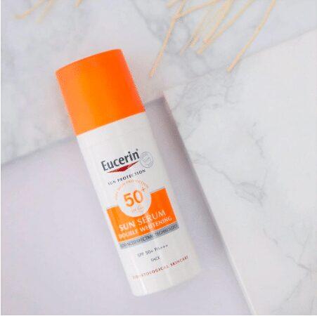 Kem chống nắng Eucerin Sun Serum Double Whitening SPF50+