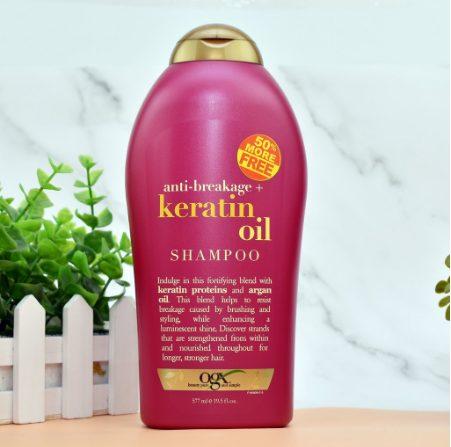 Dầu gội Biotin màu hồng- Biotin Keratin Oil Anti – Breakage