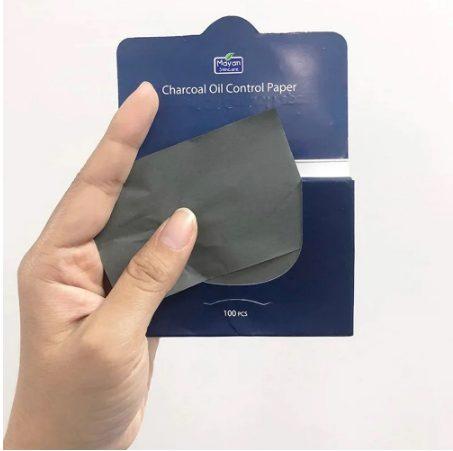 Giấy thấm dầu than hoạt tính Mayan Skincare Charcoal Oil Control Paper 100 tờ