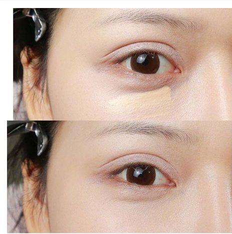 Hiệu quả trước và sau khi dùng NARS Radiant Creamy Concealer