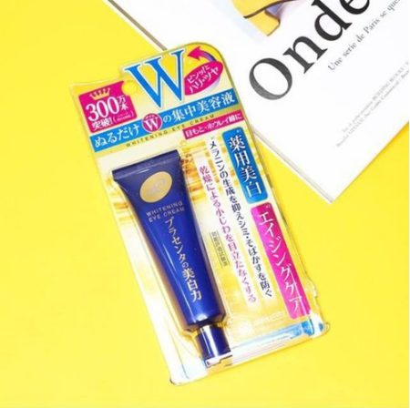Kem Mắt Meishoku Placenta Medicated Whitening Eye Cream