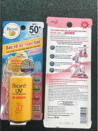 Kem chống nắng Biore UV Perfect Block Milk Moisture