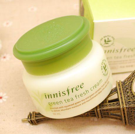 Kem dưỡng ẩm cho da khô Innisfree Green Tea Fresh Cream