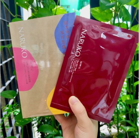 Mặt nạ Naruko đỏ- Naruko RJT Pore Minimizing and Brightening Moisturizer Mask se khít lỗ chân lông