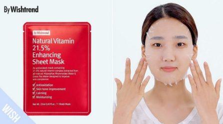 Mặt nạ giấy trắng da By Wishtrend Natural Vitamin 21.5 Enhancing Sheet Mask