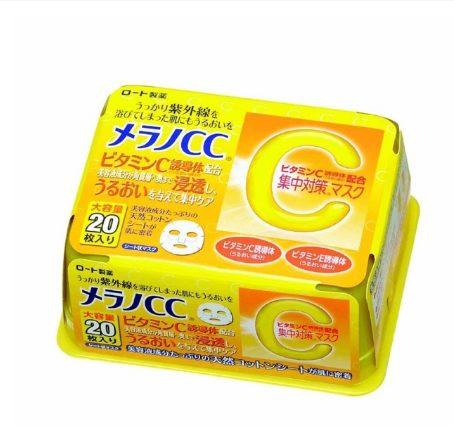 Mặt nạ giấy trắng da CC Melano vitamin C