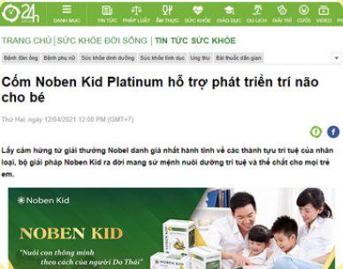 Báo 24h uy tín cũng đưa tin về sản phẩm noben kid