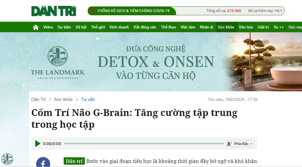 Báo dân trí đưa tin về sản phẩm