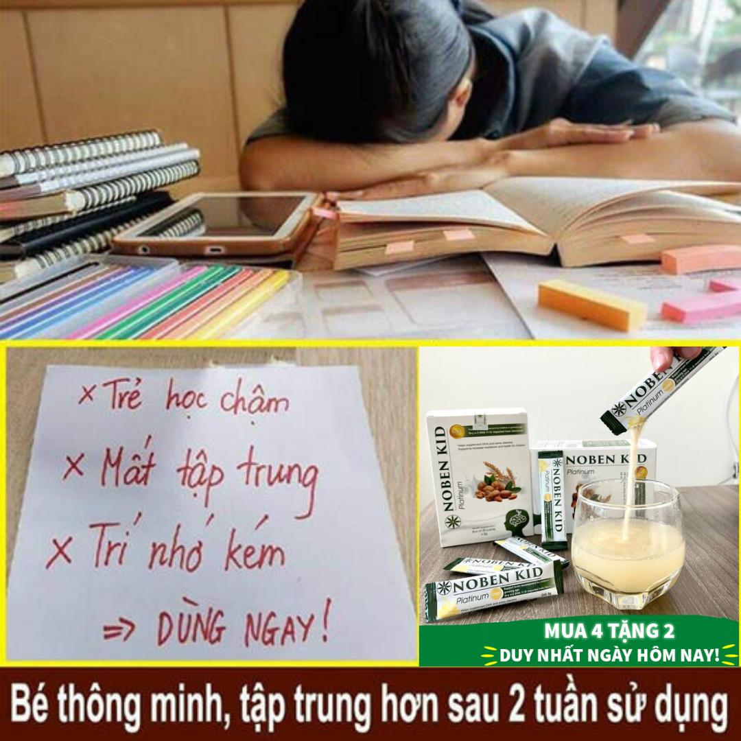Cốm trí não Noben Kid rất thích hợp cho các bé trong độ tuổi đi học