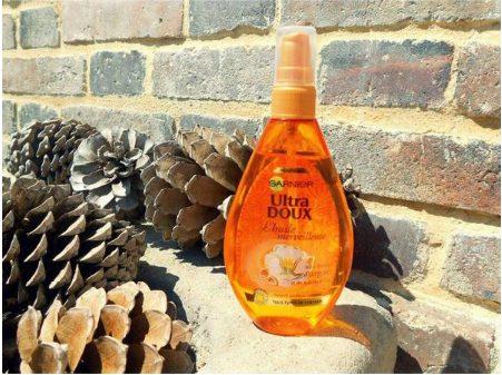 Dầu dưỡng tóc hoa trà Garnier Pháp Argan Ultra Doux