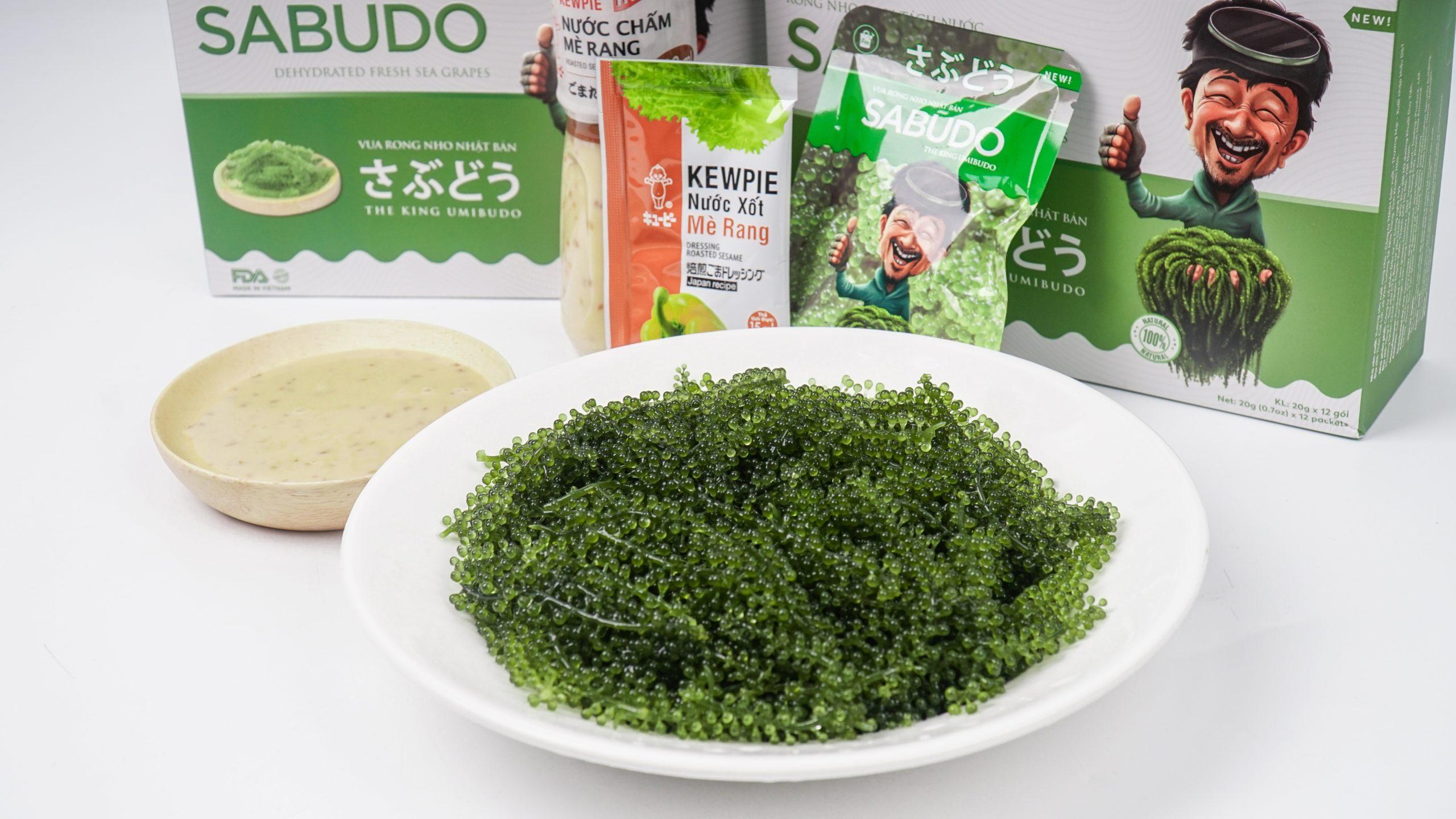Đĩa rong nho Sabudo thơm ngon bổ dưỡng
